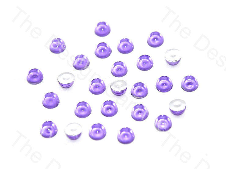 Purple Medium Transparent Plastic Stick On Stones