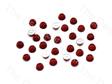 Maroon Medium Transparent Plastic Stick On Stones