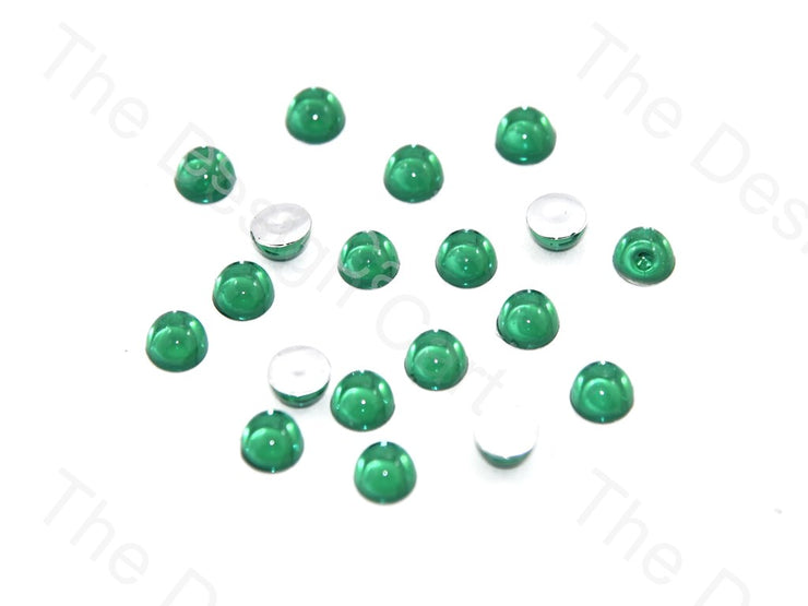 Green Medium Transparent Plastic Stick On Stones (419158589474)