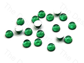 Green Big Transparent Plastic Stick On Stones