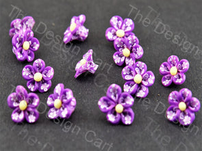 Purple Baby Flower Plastic Stones