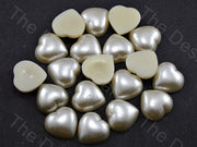Cream Opaque Heart Shaped Plastic Stone (11756629779)