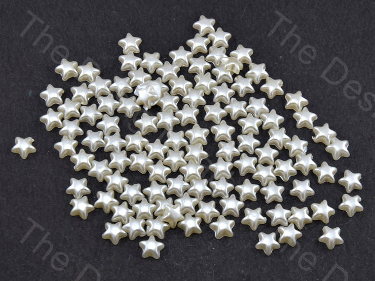 Cream Opaque Smooth Star Shaped (11756629011)