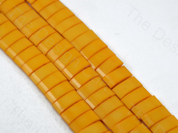 Orange Opaque Rectangle Shaped Plastic Stones (11549533331)