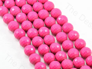 Pink Opaque Round Shaped