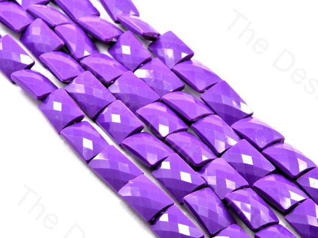 Purple Opaque Face Cut Rectangle Shaped | The Design Cart