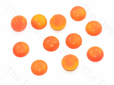Orange Yellow Dissolve Design Round Plastic Stones