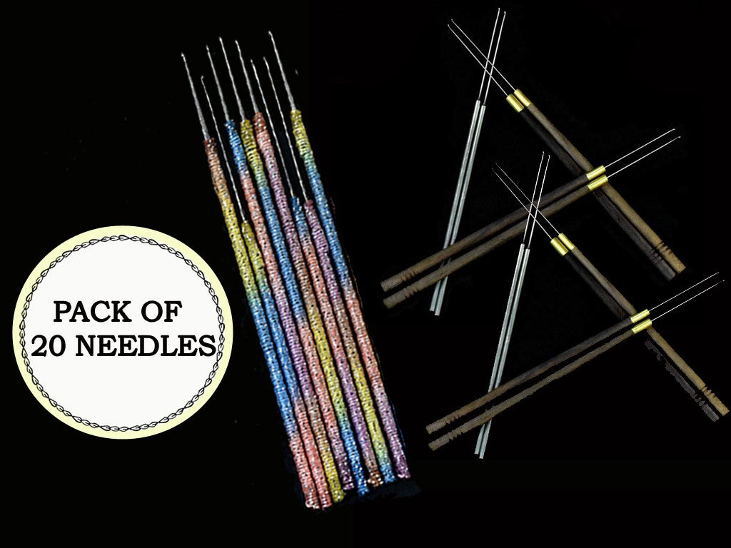 Assorted Pack of 20 Aari Needles (Multicolour)