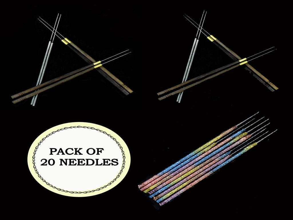 Pack of 5 Peach Designer Aari Embroidery Needles for Beading and Embroidery Work