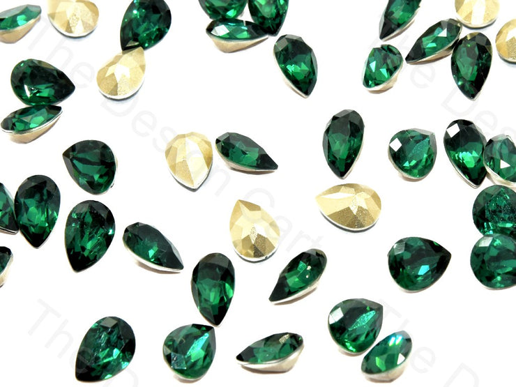Dark Green Small Drop Shaped Resin Stones | The Design Cart (545051770914)
