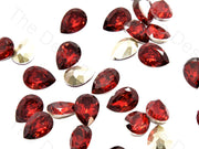 Red Drop Shaped Resin Stones | The Design Cart