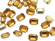 Golden Octagonal Shaped Resin Stones | The Design Cart (545053605922)