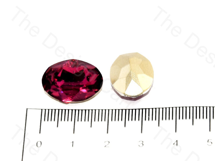 Magenta Oval Shaped Resin Stones | The Design Cart (545053638690)