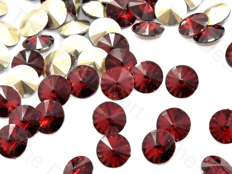 Maroon Round Shaped Resin Stones | The Design Cart (545053999138)