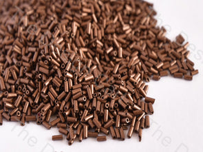Metallic Copper Pipe / Bugle Beads