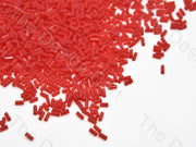 Red Translucent Pipe / Bugle Glass Beads (10647067859)