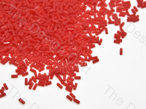 Opaque Orange Pipe / Bugle Glass Beads