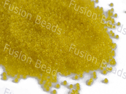 Transparent Yellow / Lemon Round Rocailles Seed Beads | The Design Cart