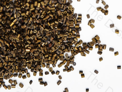 Golden Metallic / M-Brown 2 Cut Seed Beads