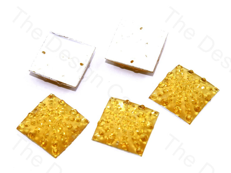 Champagne Golden Square Sugar Resin Stone (439158112290)