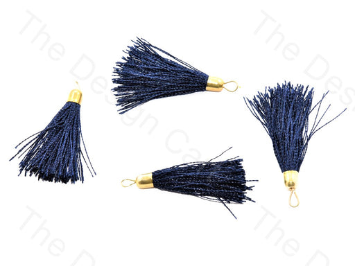 Navy Blue Silk Thread Tassel