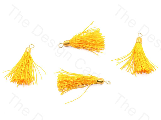 Lemon Yellow Silk Thread Tassel