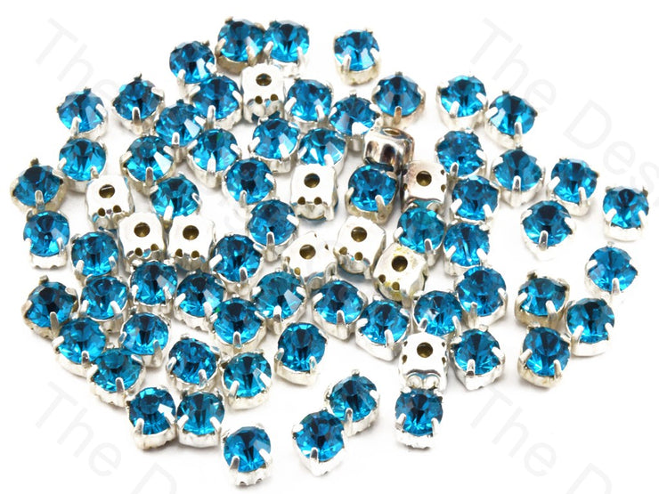 Sky Blue Round Glass Stones with Hook (11393963731)