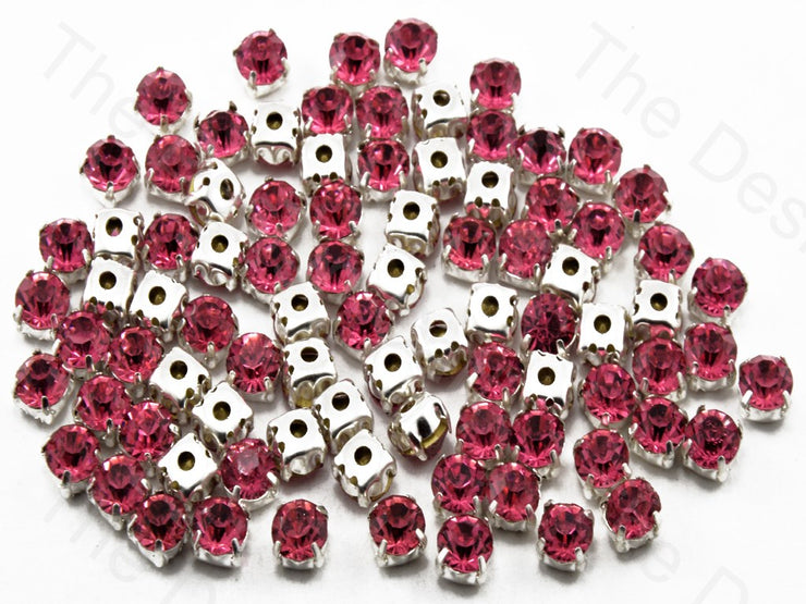 Pink Round Glass Stones with Hook (11393961363)