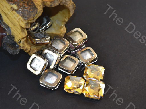 Golden Square Glass Stones with Catcher