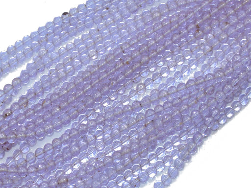 Light Purple Round Pressed Glass Beads Strings