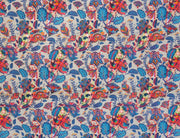 Multicolour Floral and Paisleys Digital Printed Cotton Silk Fabric