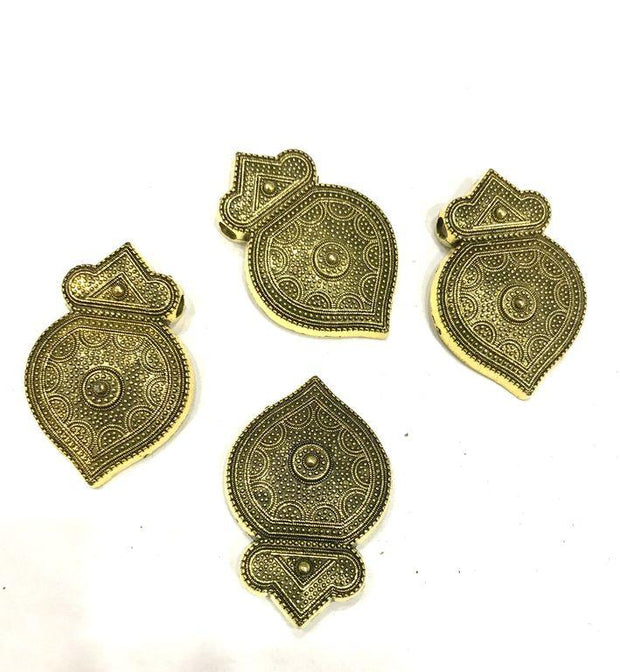 Antique Golden Metal Piece Embellishments