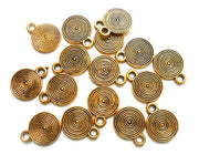 Antique Golden Designer Coin German Silver Charms (10 mm) (4530839683141)