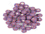 Red Blue Woven Beaded Beads | The Design Cart (3765714911266)