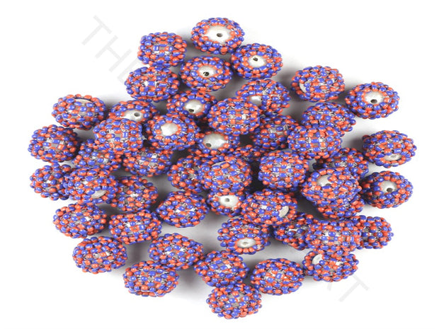 Red Blue Woven Beaded Beads | The Design Cart