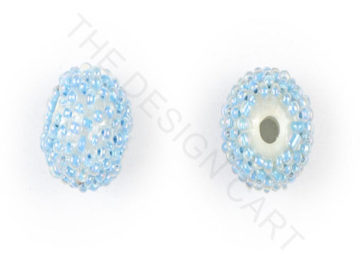 Turquoise Woven Beaded Beads