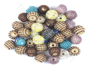 Assorted Set Of Multicolour Woven Beaded Beads | The Design Cart