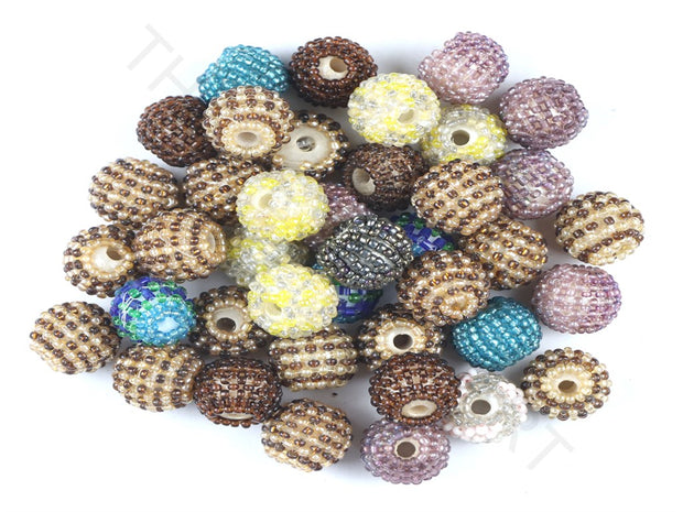 Assorted Set Of Multicolour Woven Beaded Beads | The Design Cart (3765715468322)
