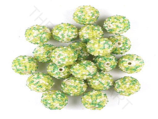 Green Woven Beaded Beads