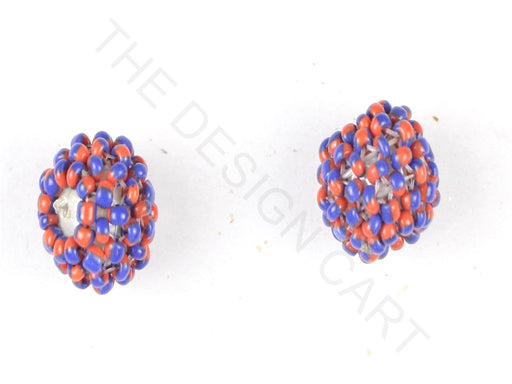 Red Blue Woven Beaded Beads