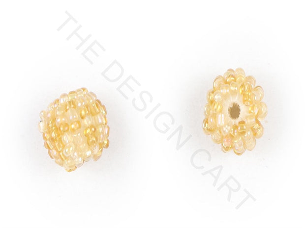 Yellow Woven Beaded Beads | The Design Cart