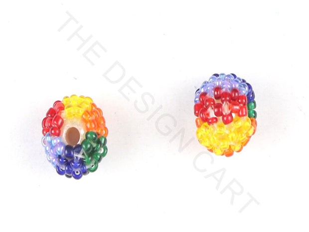 Multicolour Woven Beaded Beads | The Design Cart (3765715075106)