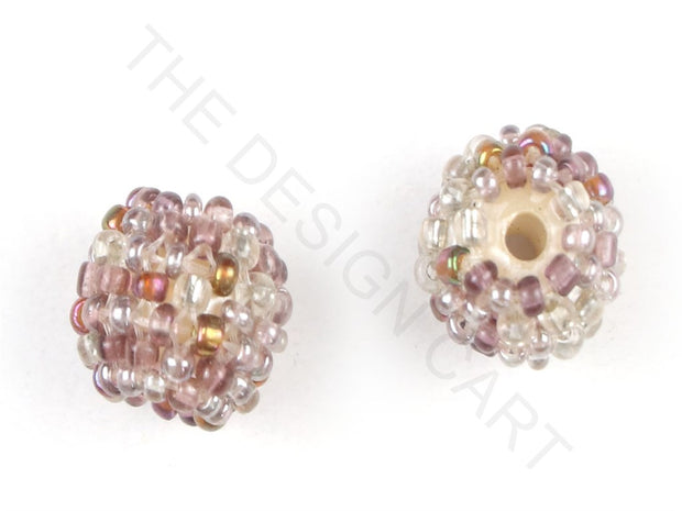 Light Purple Woven Beaded Beads | The Design Cart