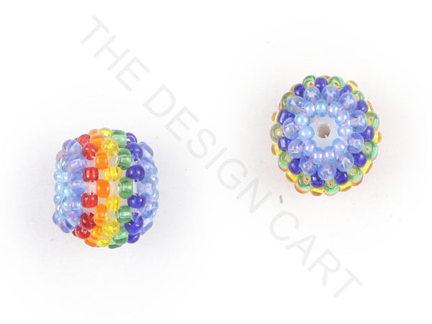Multicolour 2 Woven Beaded Beads | The Design Cart