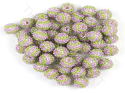 Green Purple Woven Beaded Beads | The Design Cart