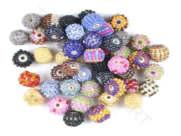 Multicolour Assorted Woven Beaded Beads | The Design Cart