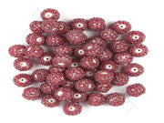 Maroon Woven Beaded Beads | The Design Cart