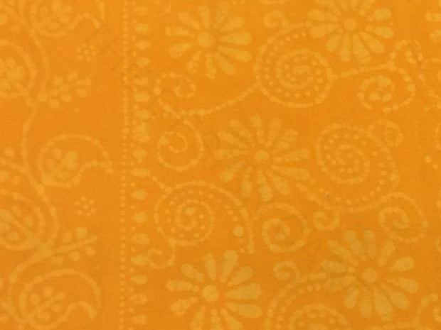 Mustard Paisleys Batik Print Cotton Fabric | The Design Cart (4200487190597)
