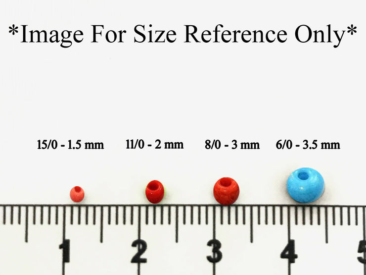 Peach Rainbow Round Seed Beads - The Design Cart (432020389922)