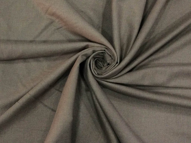 Beige Brown Plain Wool Fabric